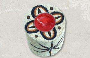 きらきら光るラメ砂のキャンドルホルダー<太陽>【C-21】<在庫残り僅か>