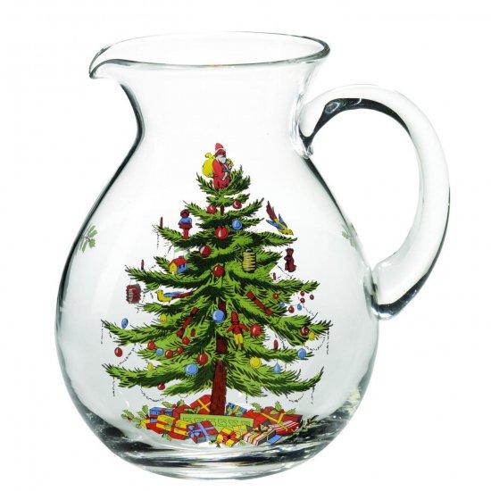 スポード Spode クリスマス・ツリー ガラスピッチャー Glass Pitcher