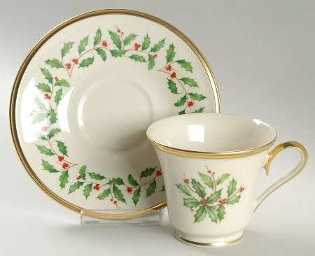 Lenox レノックス ホリデー カップ&ソーサーセット Holiday Cup & Saucer Set