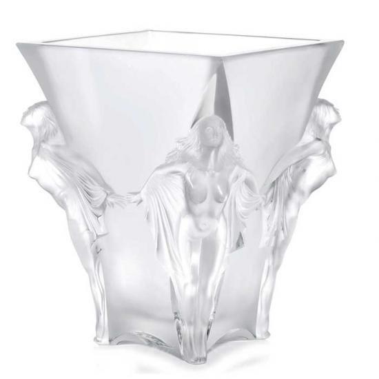 ラリックLalique 花瓶・花器  スパシアル Space