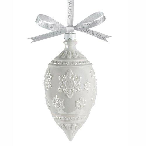 ウェッジウッド クリスマスオーナメント ラスタースノーフレークホワイト Lustre Snowflake White