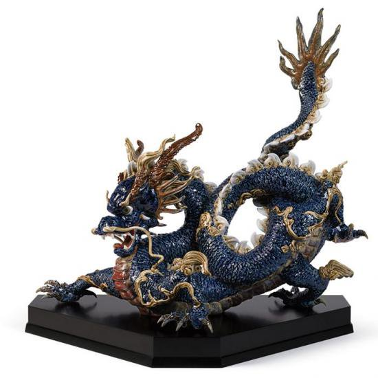 リヤドロ Lladro 臥龍 限定150体 -Great dragon (blue enamels)