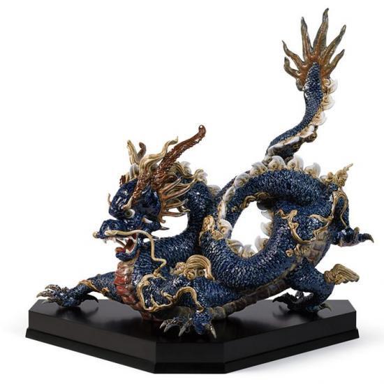 リヤドロ Lladro 臥龍 限定150体 -Great dragon (blue enamels)