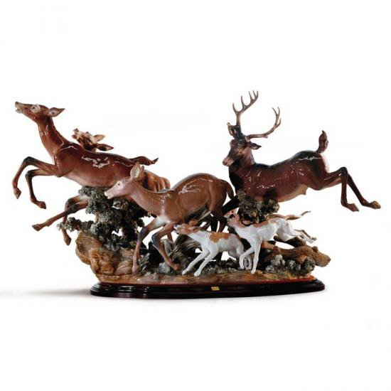 リヤドロ Lladro Pursued deer