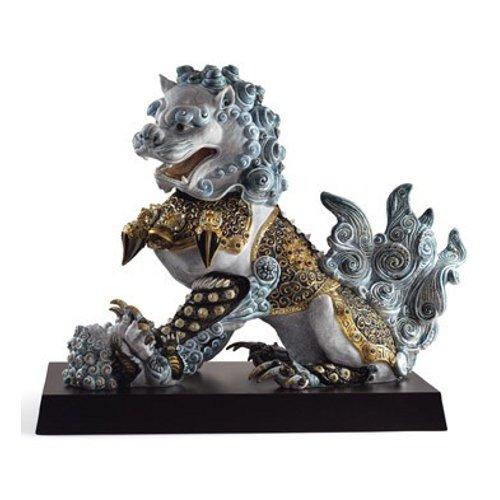 リヤドロ Lladro 世界限定188体 Guardian lioness, Blue