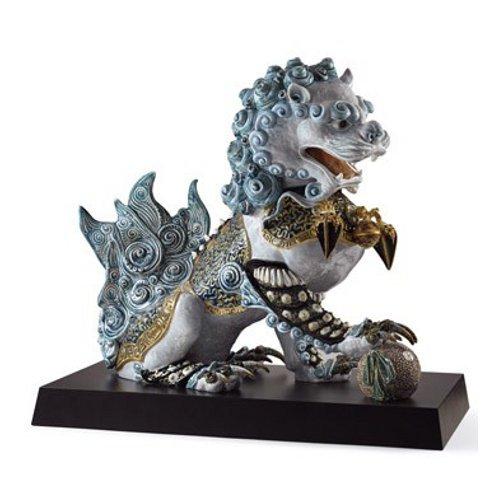 リヤドロ Lladro 世界限定188体 Guardian lion, Blue