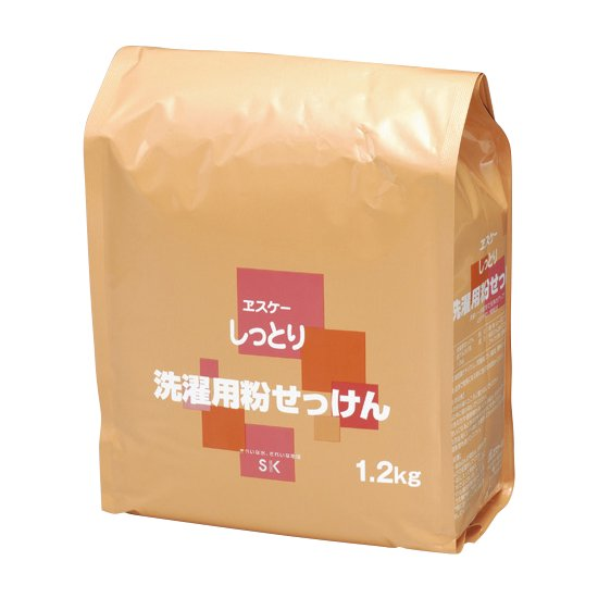 【WEB限定・箱セット】しっとり洗濯用粉せっけん(粒状)1.2kg×6袋