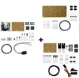 Nゲージ第1種自動踏切キット(4遮断機)動作セット(軌道回路式)