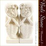 バリストーンペアマーメイド(女2人)S インドネシア バリ 人魚 石彫り アジアンの画像