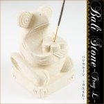 バリストーンカエルL カエル 香立て 石彫り アジアンの画像