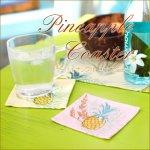 パイナップル コースター テーブルウエア ハワイアン パイナップル 南国 リゾートの画像