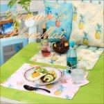パイナップル ランチョンマット テーブルウエア ハワイアン パイナップル 南国 リゾートの画像