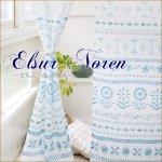 エルスールのれん フラワー 花柄 南欧 南国 リゾート のれん 暖簾 ノレンの画像