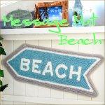 ウエルカムマット ビーチ ロゴ カリフォルニア ビーチ マリン 海 リゾートの画像