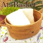 バリ雑貨 テンガナン編み アタ オーバルバスケットの画像