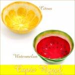 カピスボウル シトラス/スイカ かわいい フルーツプレート 皿の画像