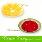 カピストレイ シトラス/スイカ かわいい フルーツプレート 皿の画像