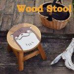 ラウンドスツール カワウソ 木製 ミニスツールの画像