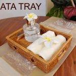 アタ レクタングル トレイ 取っ手付きアジアン雑貨 バリ雑貨 の画像