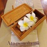 アタ ペンケース 蓋付き アジアン雑貨 バリ雑貨 の画像