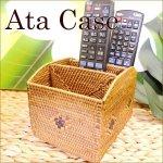 バリ雑貨 テンガナン編み アタ リモコンケース3ポケットの画像