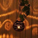 アジアンランプ インテリア照明 ココナツハンギングランプの画像