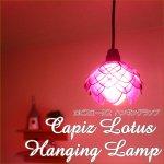 アジアンランプ インテリア照明 カピスロータスハンギングランプの画像