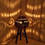 アジアンランプ インテリア照明 ココナツボウルランプ 高足の画像