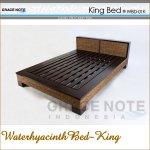 グレイスノート ウォーターヒヤシンス ベッド キングの画像