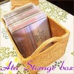 バリ雑貨 アジアン テンガナン編み アタ CDボックス ハンドルMの画像
