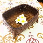 アジアン雑貨 バンブーバスケットS 竹のかごの画像