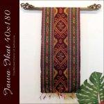 ジャワイカット40x180-002 バリ 布 織物の画像