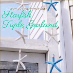 スターフィッシュガーランド3連  オーナメント モビール ガーランド 貝  シェルの画像