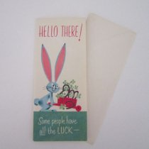 post card -rabbit
