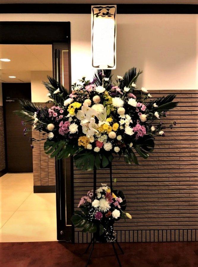 【札幌市内限定】【送料無料】ご葬儀用生花二段