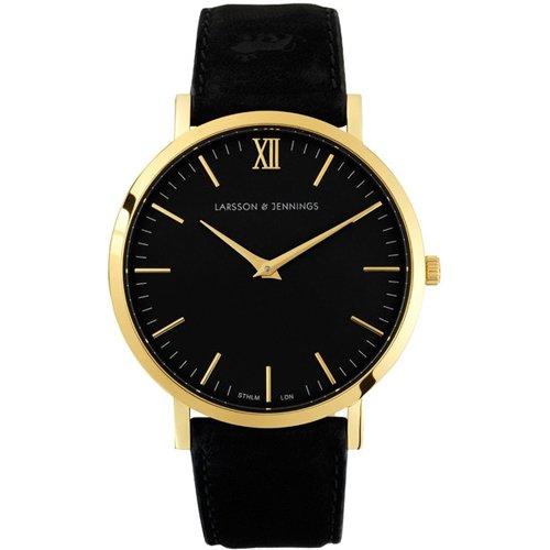 ラーソン&ジェニングス 腕時計 LADER ブラック×ブラックレザー
