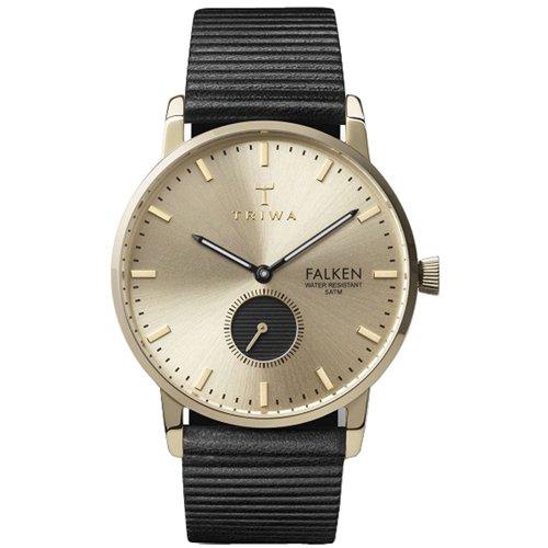 トリワ 腕時計 ファルケン FAST107WC010112 ゴールド×ブラックレザー