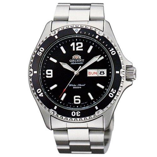 オリエント 時計 マコII AA02001B オートマチック ダイバーズウォッチ ブラックダイアル×ステンレスベルト