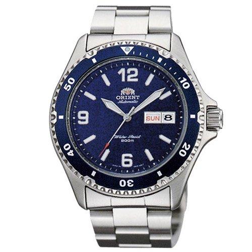 オリエント 時計 マコII AA02002D オートマチック ダイバーズウォッチ ブルーダイアル×ステンレスベルト