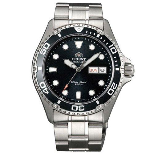 オリエント 時計 レイII AA02004B オートマチック ダイバーズウォッチ ブラックダイアル×ステンレスベルト