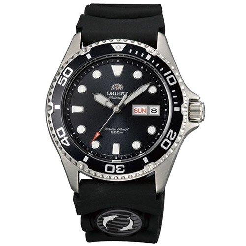 オリエント 時計 レイII AA02007B オートマチック ダイバーズウォッチ ブラックダイアル×ブラックラバーベルト