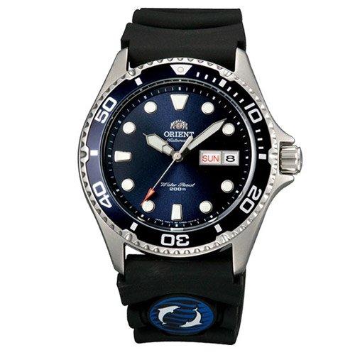 オリエント 時計 レイII AA02008D オートマチック ダイバーズウォッチ ブルーダイアル×ブラックラバーベルト