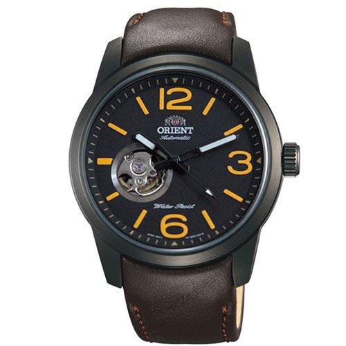 オリエント 時計 スカウト DB0C001B オートマチック オープンハート ブラックダイアル×ブラウンレザーベルト
