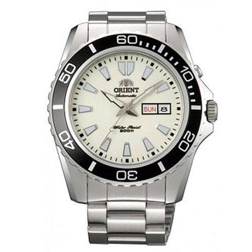 オリエント 時計 マコXL CEM75005R オートマチック ダイバーズウォッチ ルミノスダイアル×ステンレスベルト
