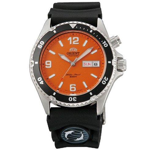 オリエント 時計 マコ CEM65004M オートマチック ダイバーズウォッチ オレンジダイアル×ブラックラバーベルト