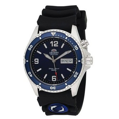 オリエント 時計 マコ EM65005D オートマチック ダイバーズウォッチ ブルーダイアル×ブラックラバーベルト
