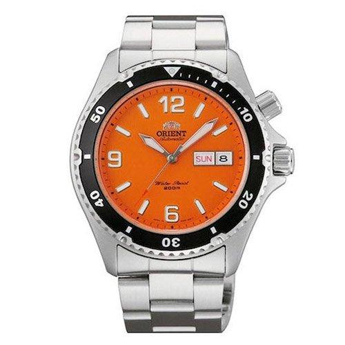 オリエント 時計 マコ CEM65001M オートマチック ダイバーズウォッチ オレンジダイアル×ステンレスベルト