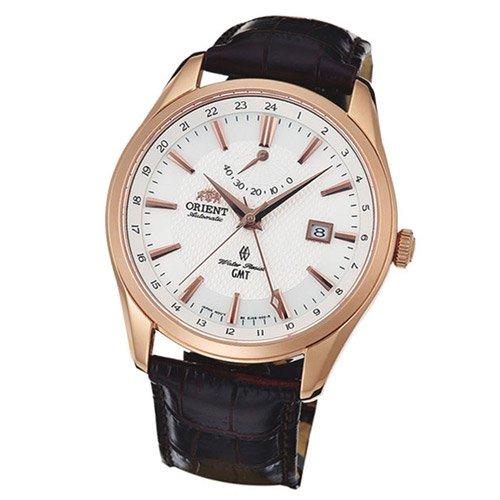 オリエント 時計 ポラリス DJ05001W GMT オートマチック ホワイトダイアル×ブラウンレザーベルト