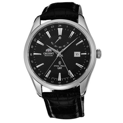オリエント 時計 ポラリス DJ05002B GMT オートマチック ブラックダイアル×ブラックレザーベルト