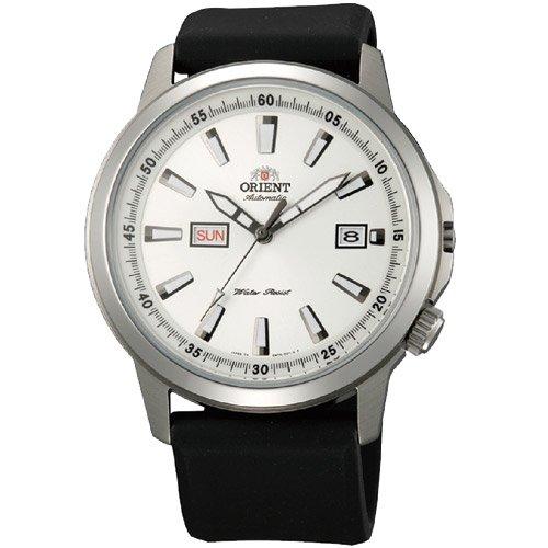 オリエント 時計 スティングレイ EM7K00BW オートマチック デイデイトカレンダー ホワイトダイアル×ブラックラバーベルト